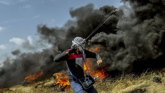 Clashes on the Gaza border (Photo: MCT)
