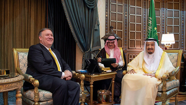 Pompeo meets with Saudi King Salman (Photo: Reuters)