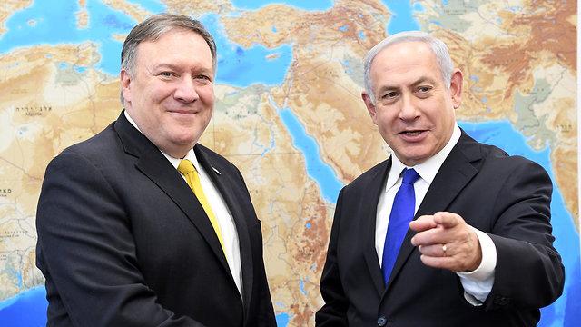 ראש הממשלה בנימין נתניהו נפגש עם מזכיר המדינה האמריקני מייק פומפאו בקריה תל אביב (צילום: Stern Matty/U.S. Embassy Tel Aviv)