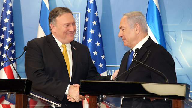 PM Netanyahu with US Secretary of State Mike Pompeo (Photo: Yariv Katz)