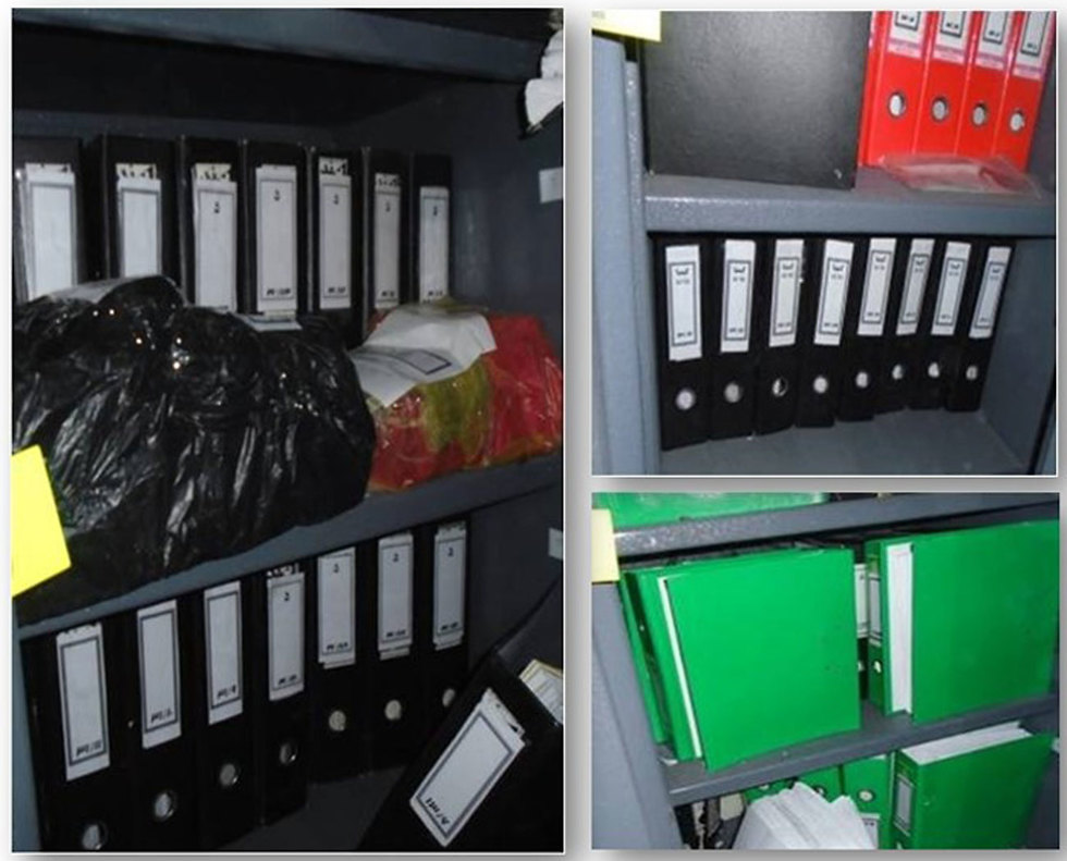 Some of the folders with documents from Iran's nuclear archive