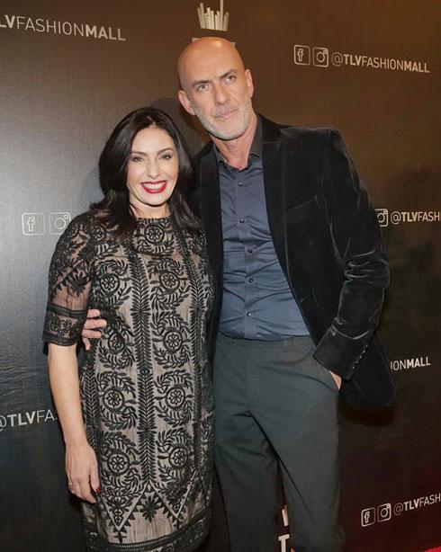 מירי רגב בשבוע האופנה בתל אביב עם המפיק מוטי רייף (צילום: שוקה כהן)