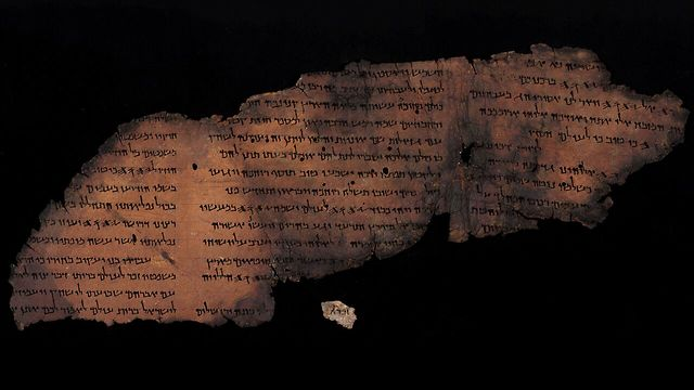 One of the newly discovered writings (Photo: Shay Halevi, Israel Antiquities Authority)