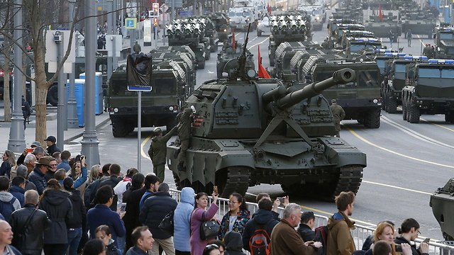 מצעד צבאי של רוסיה ב מוסקבה (צילום: רויטרס)
