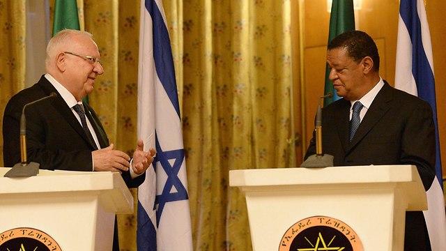 ראובן ריבלין פגישה עם נשיא אתיופיה מולטו טשומה  (צילום: מארק ניימן / לע