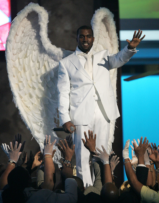 אלוהים שהוא בעצם מלאך? קניה ווסט (צילום: Gettyimages)