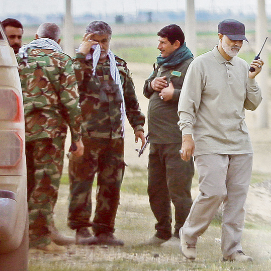 Soleimani (R) in Syria, in one of the anti-ISIS combat zones. 'A very, very dangerous man'