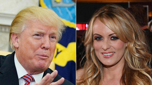 Trump and Stormy Daniels, who claimed she had had an affair with Trump in 2006 and was paid hush-money by Cohen; Trump's spokespeople have denied the affair and accused Daniels of lying. (Photo: AFP)