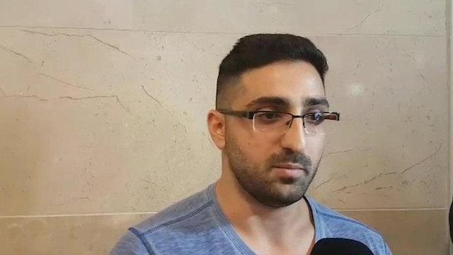 נתי גבאי בן בנו של שמעון גבאי נהג אוטבוס ש נדקר דקירה ב עפולה  (צילום: עידו ארז)