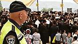 מאות אלפים חוגגים במירון (צילום: דוברות המשטרה)
