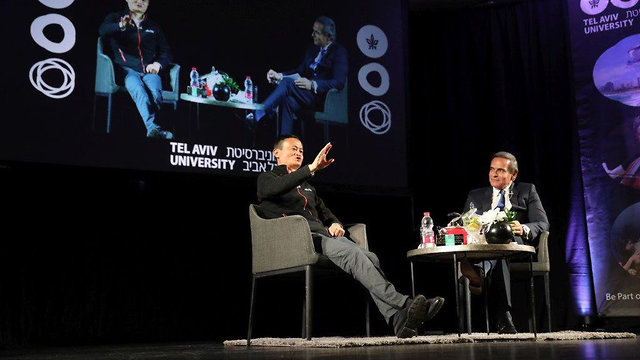 Alibaba founder at Tel Aviv University (Photo: Hen Galili)