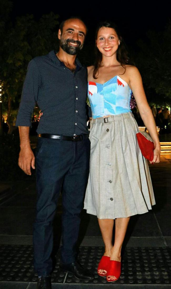 מחויכים. יעקב זאדה וזוגתו (צילום: אמיר מאירי)