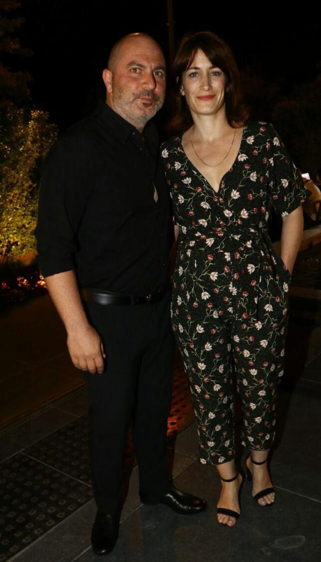 ליאור רז ואשתו (צילום: אמיר מאירי)