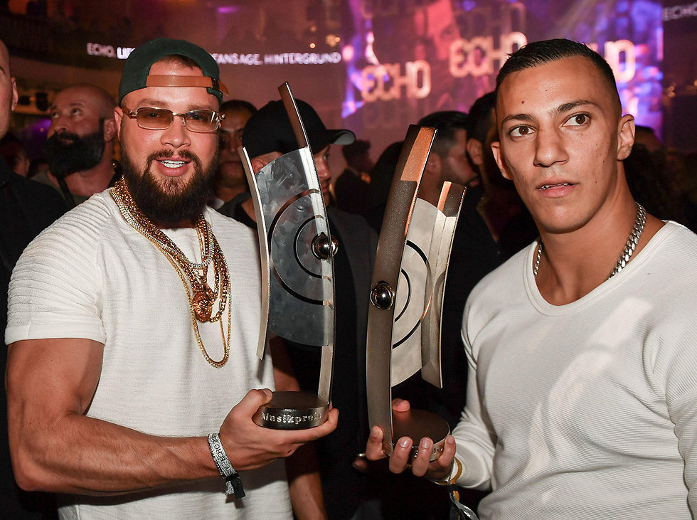 Anti-Semitic German rapper duo Kollegah and Farid Bang (Photo: AFP)