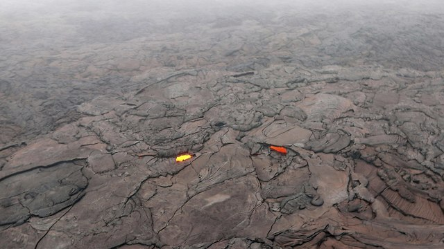 התפרצות הר געש, הוואי (צילום: AP)