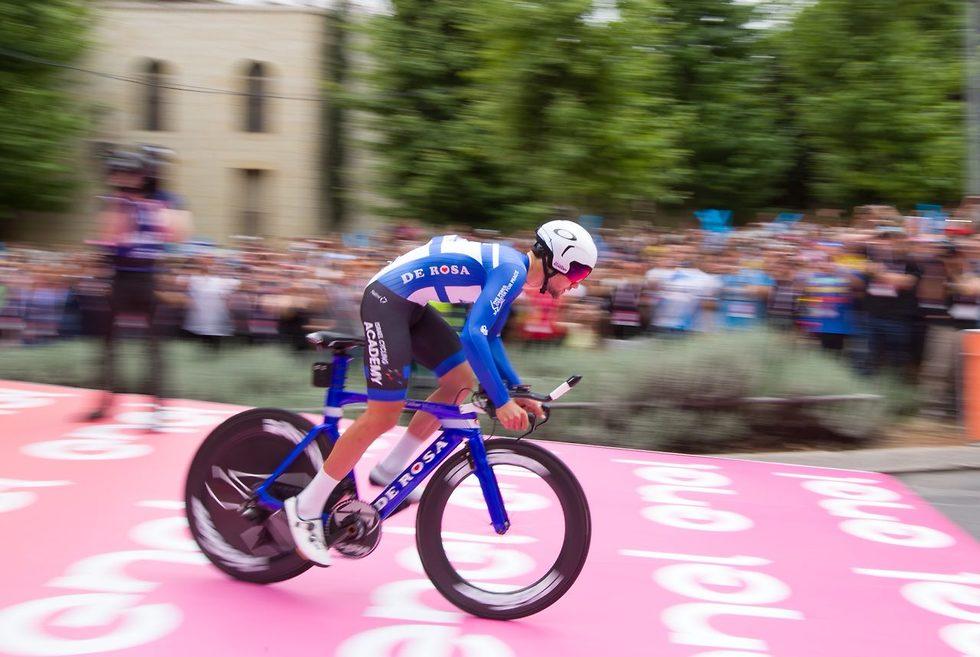 Israeli cyclist Guy Sagiv (Photo: Oz Mualem)