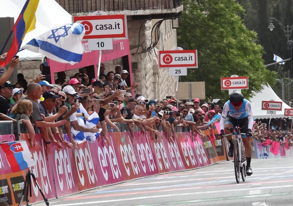 Israeli cyclist Guy Niv (Photo: Oren Aharoni)