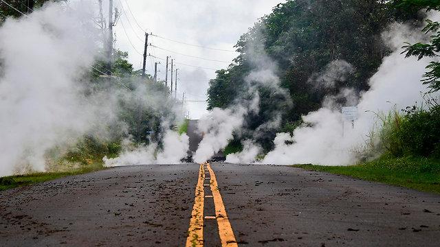 התפרצות הר געש הוואי (צילום: AFP)