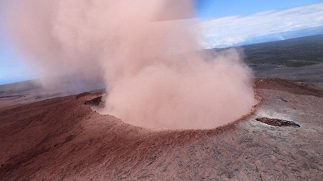 התפרצות הר געש הוואי (צילום: רויטרס)