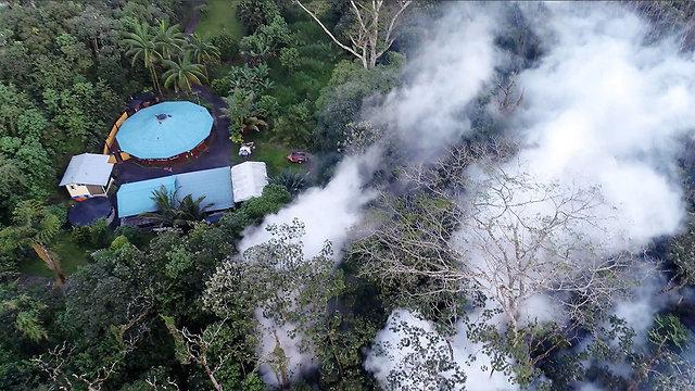 התפרצות הר געש הוואי (צילום: AP)