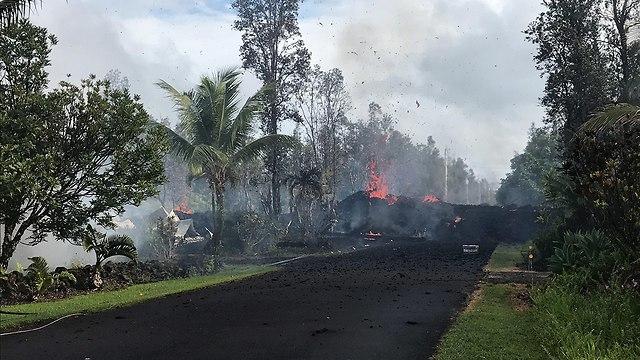 התפרצות הר געש הוואי (צילום: EPA)