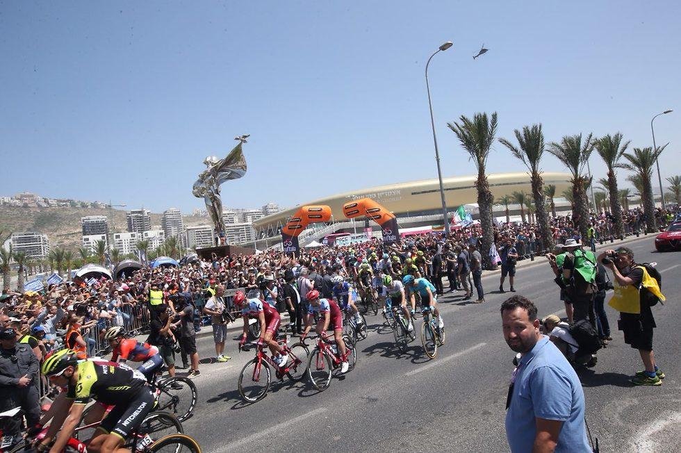 ג'ירו ד'איטליה בחיפה (צילום: אורן אהרוני)