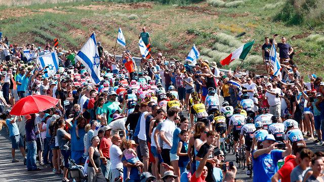 מרוץ אופניים ג'ירו ד'איטליה (צילום: AFP)
