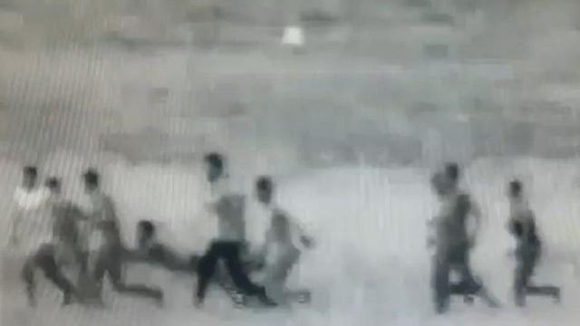 IDF Spokesperson's Unit footage showed a man faking an injury during border protests (Photo: IDF Spokesperson's Unit)