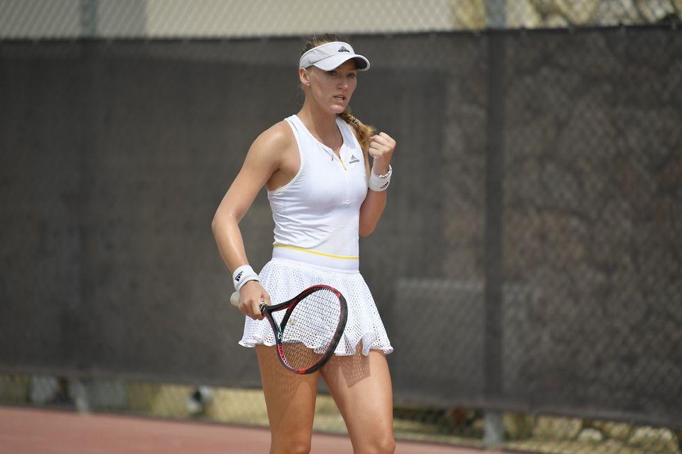 לינה גלושקו (צילום: אלכס גולדנשטיין איגוד הטניס)