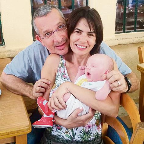 מיכל זוארץ, בעלה משה לבקוביץ והתינוקת אמה