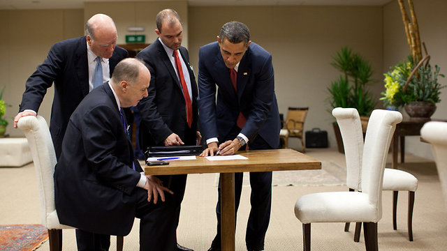 Ben Rhodes (2nd from right) with President Obama (Photo: Gettyimages)