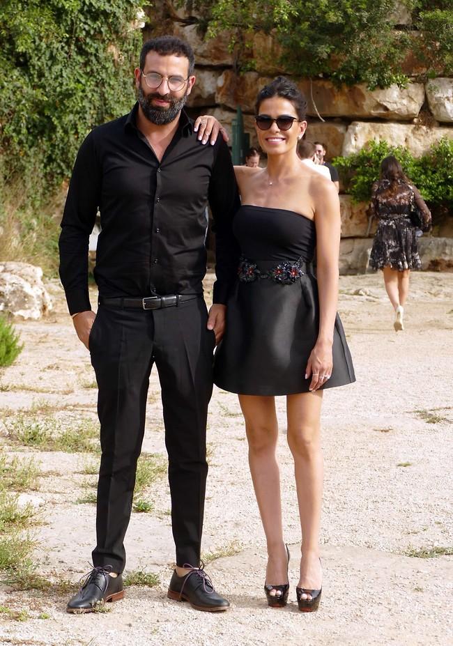 אוהבים ללבוש שחור. מיכל הקטנה וניר ויצמן (צילום: אמיר מאירי)