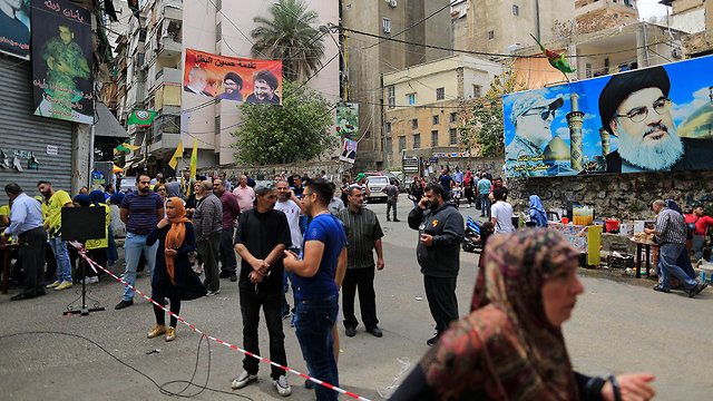Hezbollah campaign during the 2018 Lebanese elections (Photo: AP)