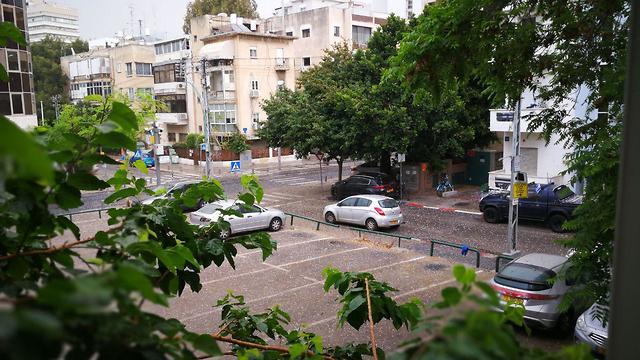 ברד בתל אביב (צילום: רתם כנעני)