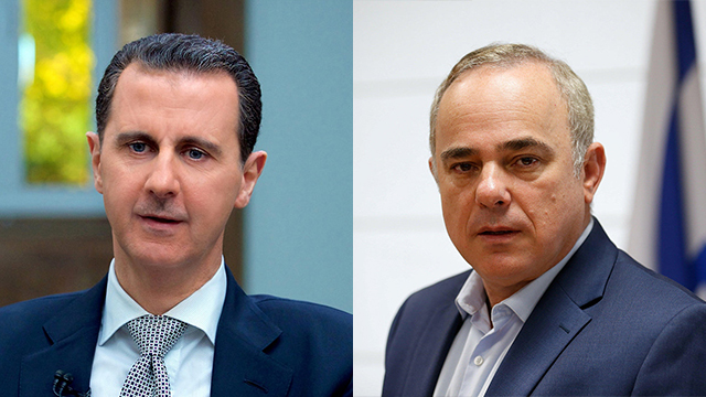 Syrian President Assad (L) will be eliminated and his regime toppled if he did not stop Iran, Energy Minister Steinitz declared (Photo: Reuters)