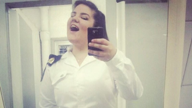 Netta Barzilai during her time in the Israeli Navy's band (Photo: Facebook)