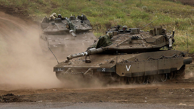 Israeli maneuvers in the Golan Heights (Photo: AFP)