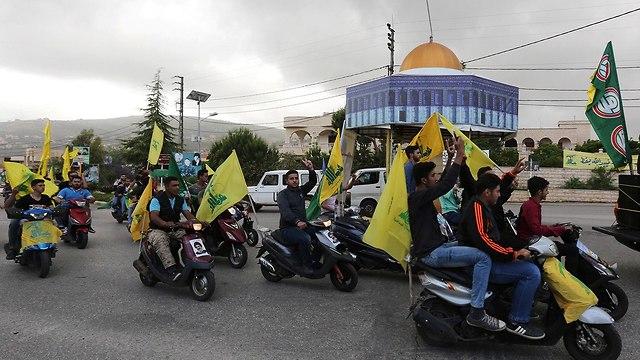 לבנונים ב מרג' עיון חגיגות חסן נסראללה  (צילום: רויטרס)