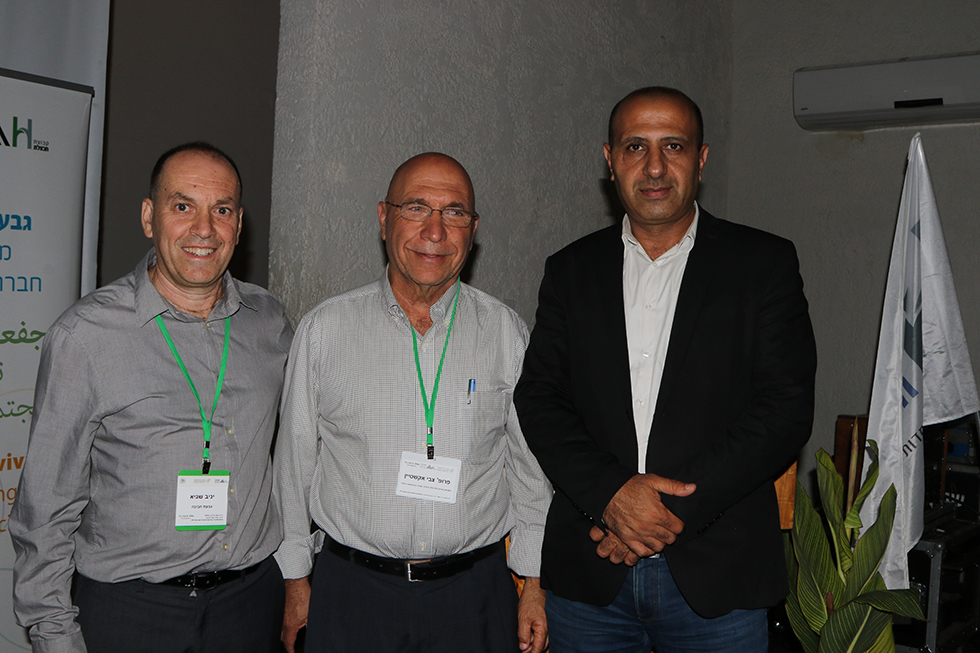 איימן סייף, צבי אקשטיין, יניב שגיא (צילום: ראוף אבו סאנה)