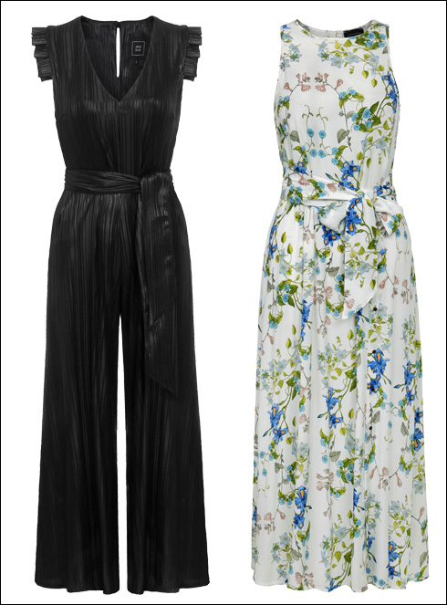 שמלה פרחונית, 740 שקל; אוברול, 790 שקל  (צילום: ניר יפה)