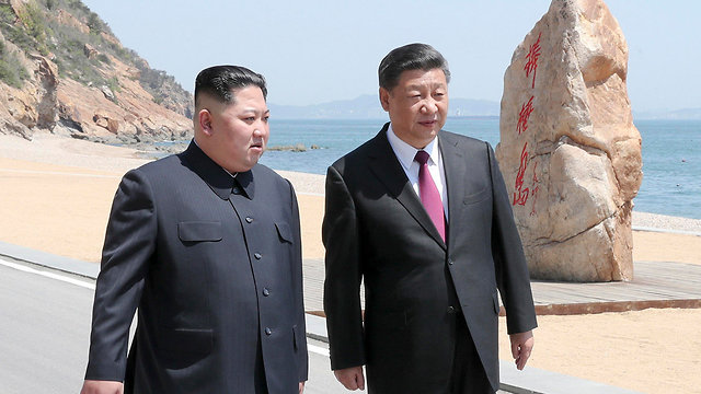 Kim and Chinese President Xi Jinping. Beijing lost its patience with the young North Korean leader  (Photo: AP)