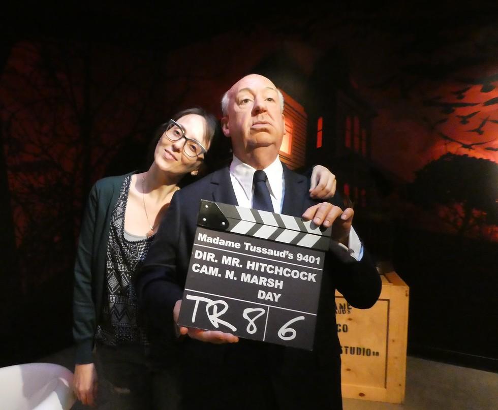 צילום חובה עם היצ'קוק, מוזיאון מאדאם טוסו (צילום: יסמין גיל)
