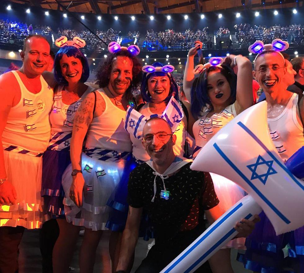 Israeli delegation at Eurovision semi-final