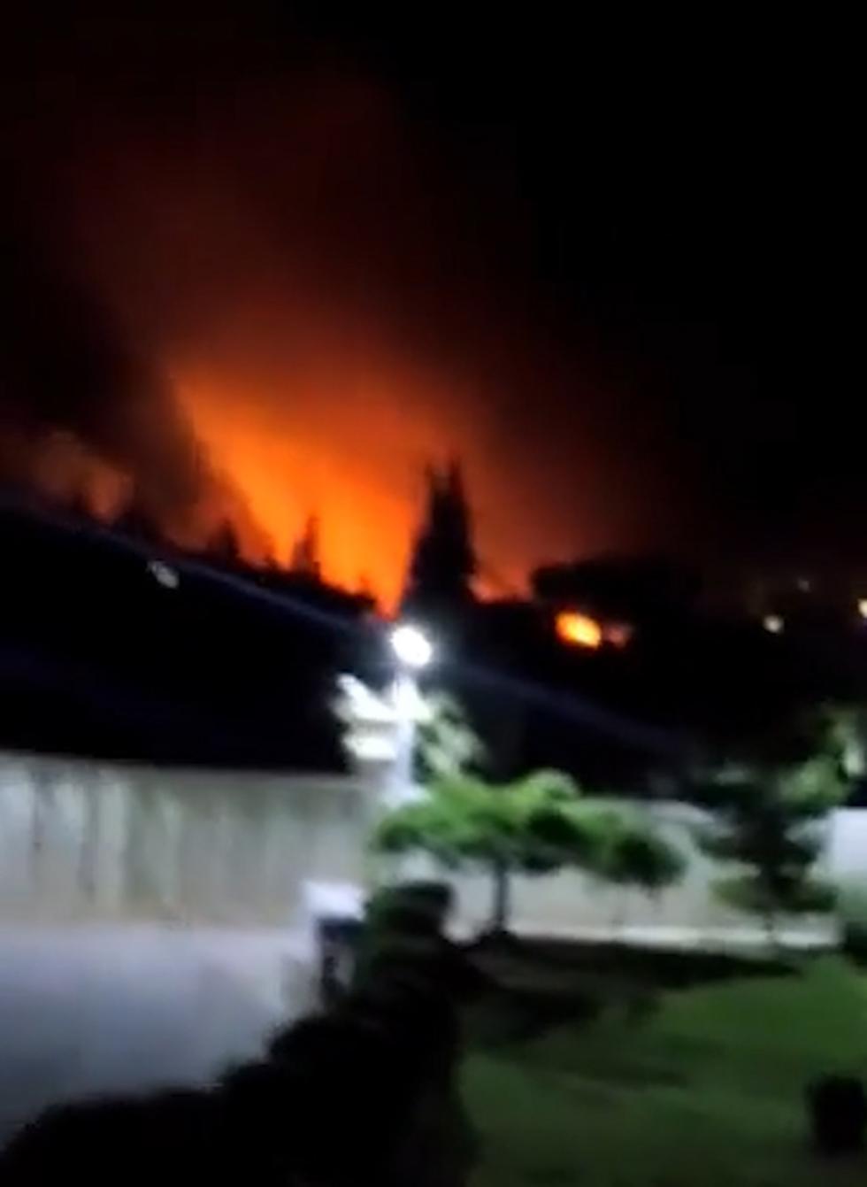שרידי טיל אשר הופל באזור דמשק ()