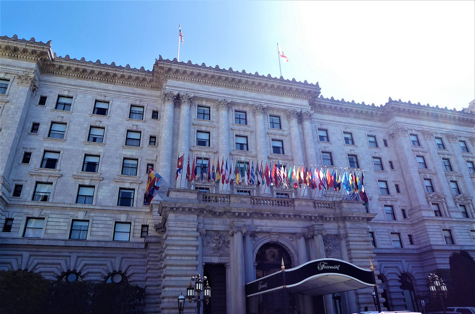 מלון פיירמונט סן פרנסיסקו שגם נראה במהלך הסרט (צילום: יסמין גיל)