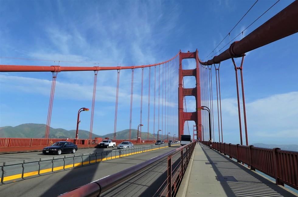 גשר שער הזהב ניתן לחצות ברכב או בהליכה (צילום: יסמין גיל)