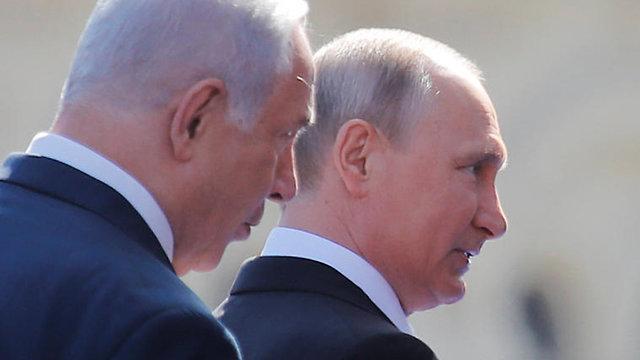 ולדימיר פוטין ובנימין נתניהו, מוסקבה רוסיה (צילום: רויטרס)