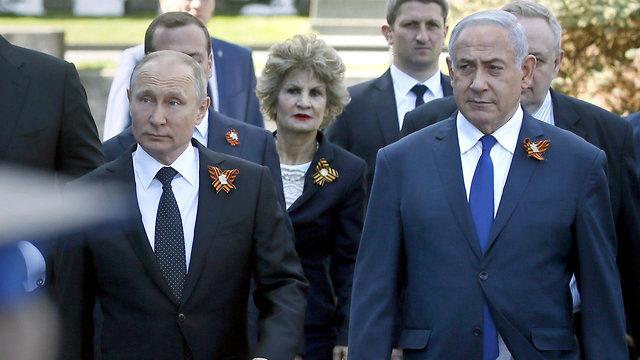 בנימין נתניהו וולדימיר פוטין (צילום: AFP)