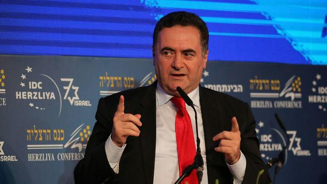 Minister Katz at the Herzliya Conference (Photo: Motti Kimchi)