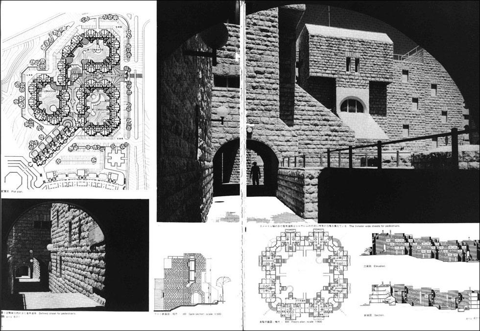 המבננים של סלו הרשמן, שאמר בעבר בראיון ל-Xnet: ''החצרות הפנימיות המוגנות שתיכננתי שוב ושוב, כמעט בכל פרויקט, קשורות לעברי בשואה'' (צילום: באדיבות ארכיון אדריכלות ישראל)